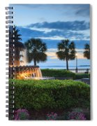 Pineapple Fountain Charleston South Carolina Sc Spiral Notebook