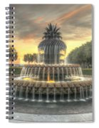 Pineapple Fountain Sunset Spiral Notebook