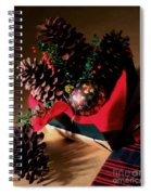 Pinecones Christmasbox Painted Spiral Notebook