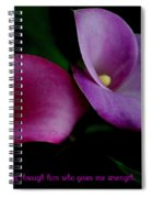 Pink An Purple Calla Lilys Spiral Notebook