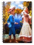 Pink And Blue Spiral Notebook