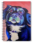 Pink And Blue Dog Spiral Notebook