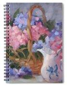 Pink And Blue Hydrangeas Spiral Notebook
