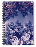 Pink And Blue Morning Frost Fractal Spiral Notebook