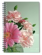 Pink And Green Floral Spiral Notebook