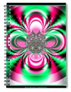 Pink And Green Rotating Flower Fractal 74  Spiral Notebook
