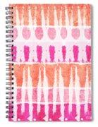 Pink And Orange Tie Dye Spiral Notebook