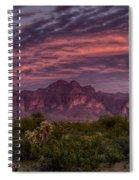 Pink And Purple Desert Skies  Spiral Notebook