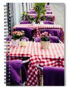 Pink And Purple Dining Spiral Notebook