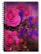 Pink And Purple Floral Bouquet Spiral Notebook