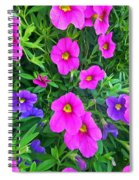 Pink And Purple Petunias Spiral Notebook