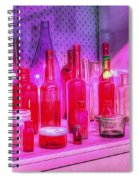 Pink And Red Bottles Spiral Notebook