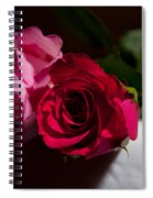 Pink And Red Rose Spiral Notebook
