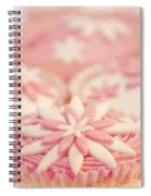 Pink And White Cup Cakes Spiral Notebook