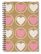 Pink And White Hearts Spiral Notebook