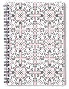 Pink And White Interlude Spiral Notebook