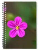 Pink And Yellow Flowers With Green Blurry Background Spiral Notebook