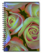 Pink And Yellow Roses Pop Art Spiral Notebook