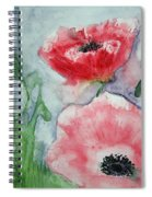 Pink Anemones Spiral Notebook
