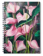 Pink Anthuriums Spiral Notebook