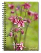 Pink Aquilegia Spiral Notebook