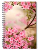 Pink Azalea Bush Spiral Notebook