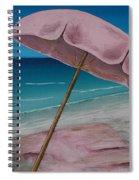 Pink Beach Umbrella Spiral Notebook