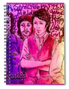 Pink Beatles From Rainbow Series Spiral Notebook