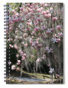 Pink Blossoms And Gray Moss Spiral Notebook