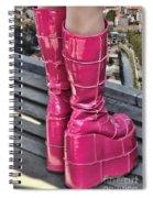 Pink Boots Spiral Notebook