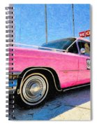 Pink Cadillac Spiral Notebook