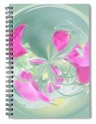 Pink California Poppy Orb Spiral Notebook