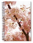 Pink Cherry Blossoms - Impressions Of Spring Spiral Notebook