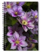 Pink Clematis Spiral Notebook