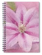 Pink Clematis Profusion Spiral Notebook