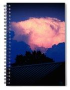 Pink Cloud Over Lexington Spiral Notebook
