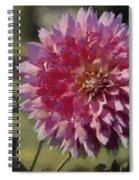 Pink Dahlia Spiral Notebook