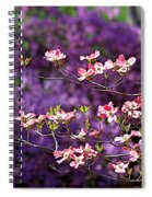 Pink Dogwood With Purple Azaleas Spiral Notebook