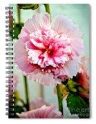 Pink Double Hollyhock Spiral Notebook