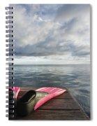Pink Fins On Dock Spiral Notebook