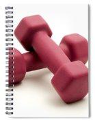 Pink Fixed-weight Dumbbells Spiral Notebook