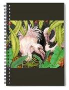 Pink Flamingos Jungle Cathy Peek Tropical Bird Art Spiral Notebook