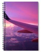 Pink Flight Spiral Notebook