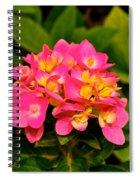 Pink Flower Austin Spiral Notebook