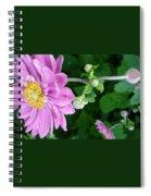 Pink Flower Shiver Spiral Notebook