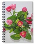 Pink  Flowers Spiral Notebook
