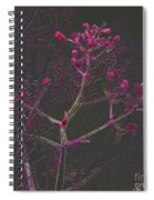 Pink Flowers Spiral Notebook