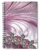 Pink Froth A Fractal Abstract Spiral Notebook