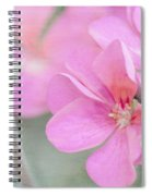 Pink Geraniums Spiral Notebook