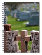 Pink Granite Tombstone Spiral Notebook